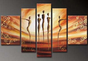 Canvas Art, 5 Piece Canvas Art, Dancing Figure Painting, Abstract Art, Canvas Painting, Wall Art, Large Art, Abstract Painting, Bedroom Wall Art - Art Painting Canvas