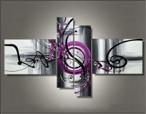 Abstract Painting, Modern Art, Canvas Painting, 4 Piece Abstract Art, Contemporary Wall Art for Sale - Art Painting Canvas