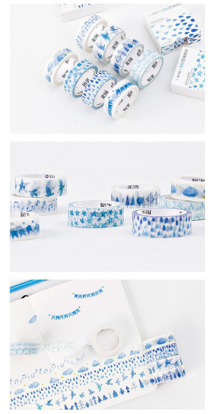 Blue Winter Washi Tapes