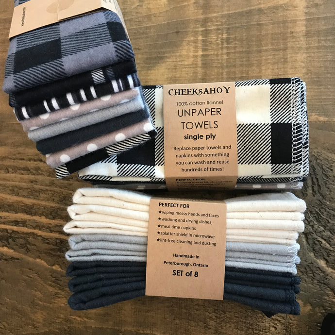 Reusable Flannel Cloth Wipes & Pads