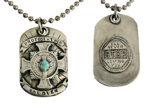 Protect This Soldier - Never Stop Loving You Pendant