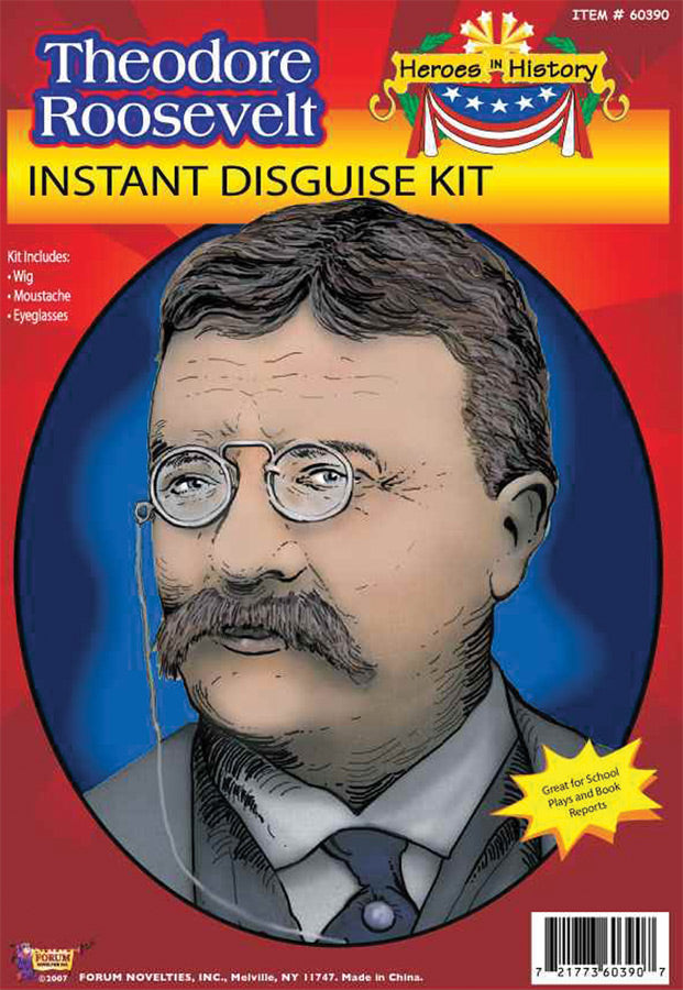 Halloween Costumes, Heroes In History Teddy Roosevelt Accessory Kit, Historical Costume, Miscellaneous Accessories Costume, Wigs & Hair Costume