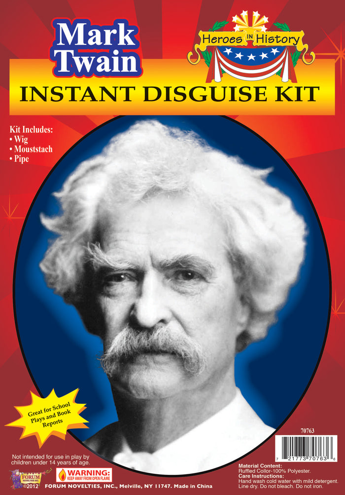 Halloween Costumes, Heroes In History Mark Twain Accessory Kit, Historical Costume, Miscellaneous Accessories Costume, Wigs & Hair Costume