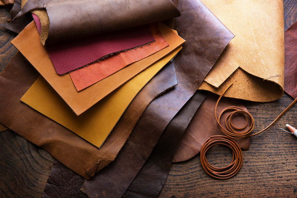 Vegetable tanned leathers