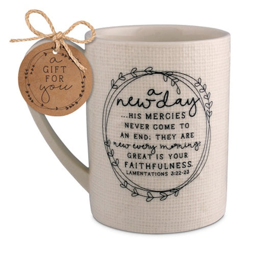 Hand Drawn Doodles Mug: A New Day