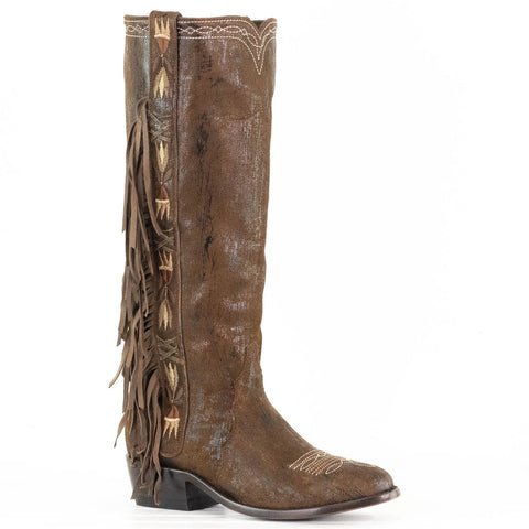 Acoma Tall Boot in Rust