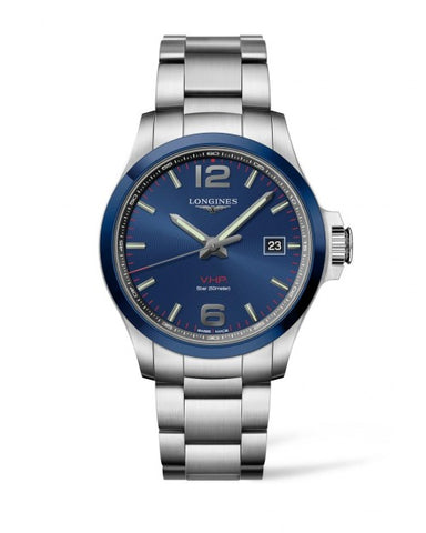 CONQUEST V.H.P. 43MM BLUE DIAL STAINLESS STEEL