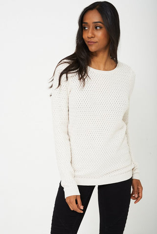 CREAM JUMPER IN CABLE KNIT