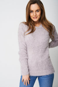 FLUFFY JUMPER IN GREY