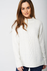 HIGH NECK TEXTURED JUMPER