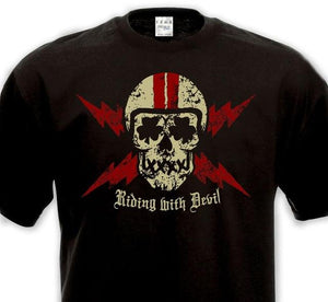 "Devilish ""RIDING WITH DEVIL"" T-Shirts"