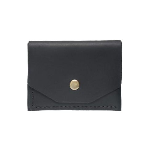 Black Minimalistic Leather Cardholder - Cantoneri