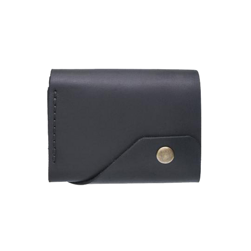 Black Triple Leather Mini Wallet - Cantoneri