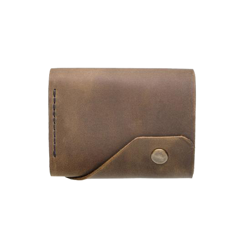Brown Triple Leather Mini Wallet - Cantoneri