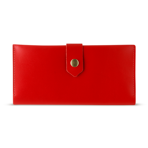 Women's Red Bifold Leather Wallet - Cantoneri