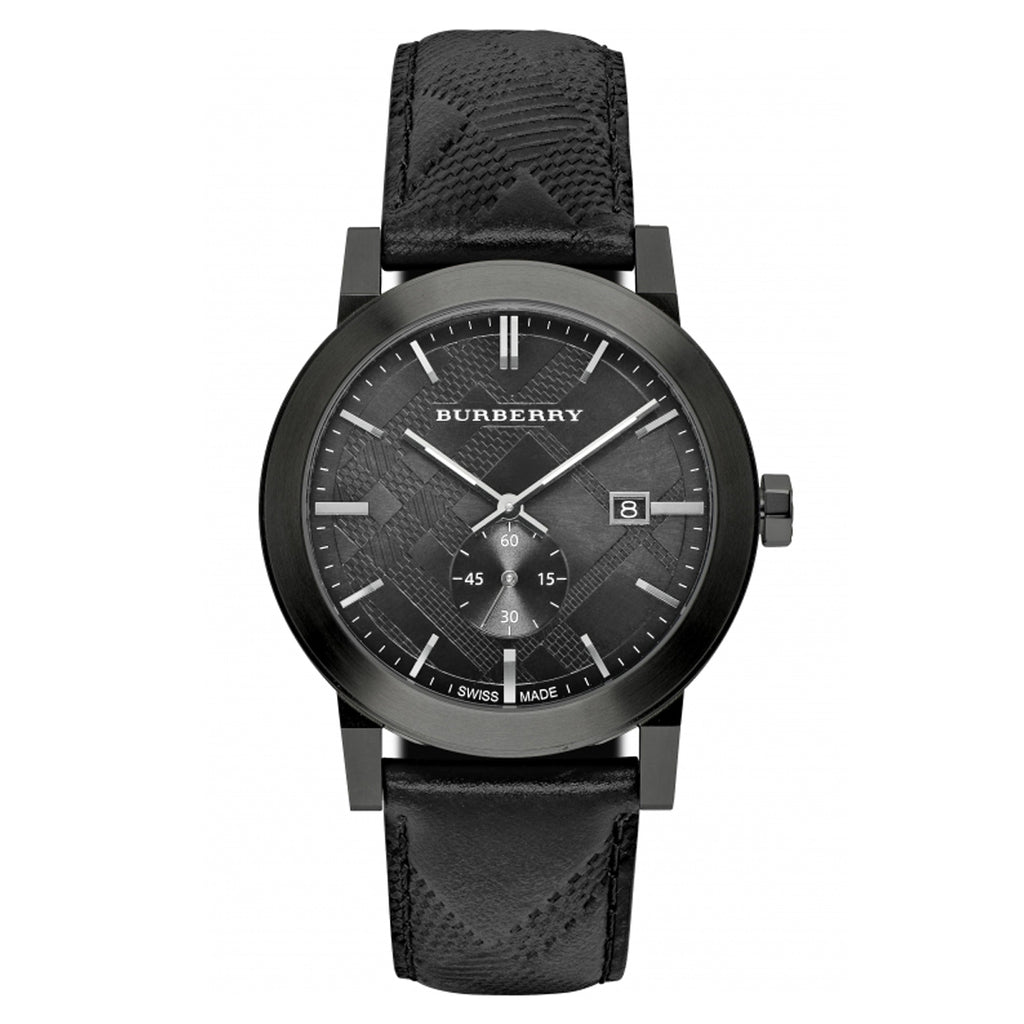 Burberry BU9906 Men's City Black Leather Watch
