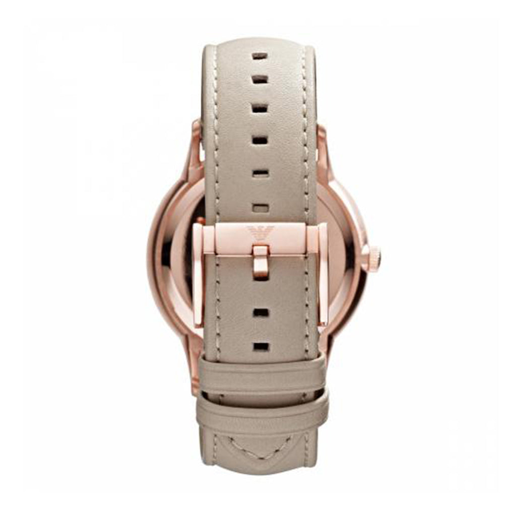 Emporio Armani AR2464 Ladies Nude Leather Strap Watch