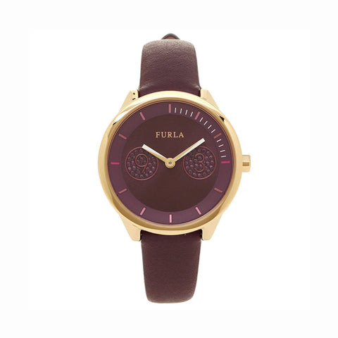 Furla Metropolis R4251102516 Ladies Purple Leather Watch