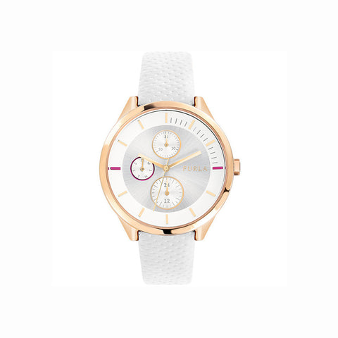 Furla Metropolis R4251102526 Ladies White Multi-Function Watch