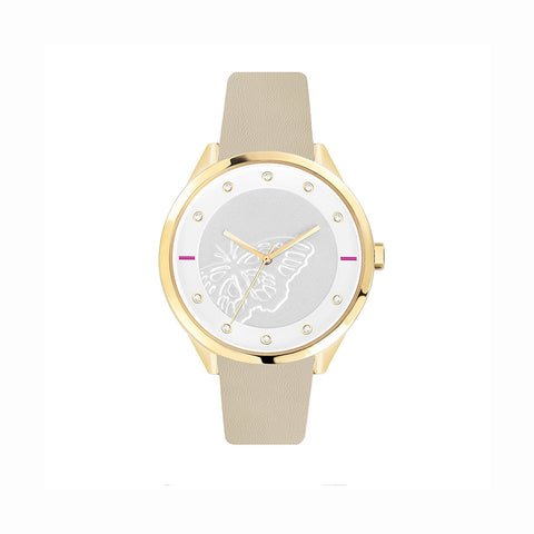 Furla R4251102529 Metropolis Ladies Beige Leather Watch
