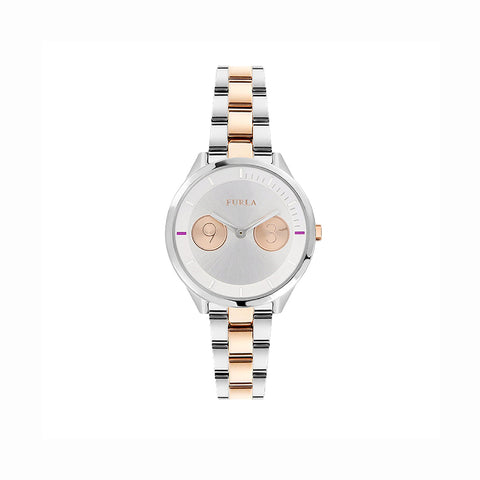 Furla R4253102507 Ladies Two-Tone Gold and Silver Watch