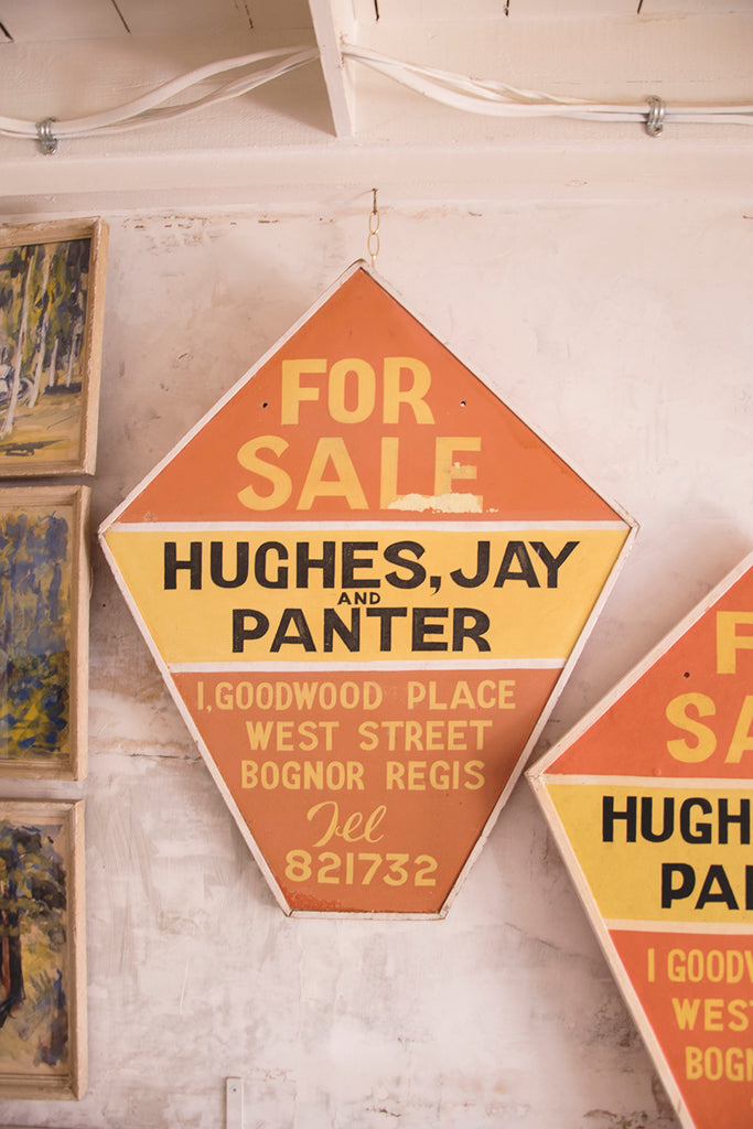 Vintage Hand Painted For Sale Signs