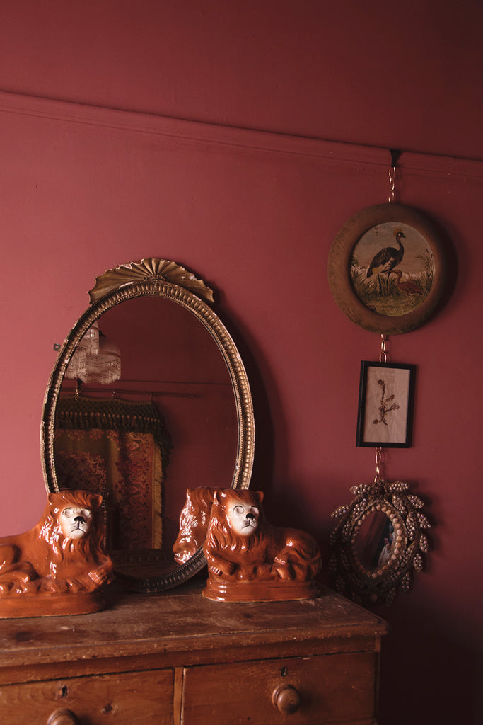 Antique Oval Mirror