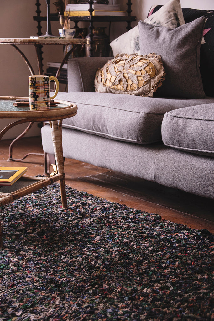 Bamboo Coffee Table and Rag Rug, Interior Photography Bristol. Dig Haushizzle