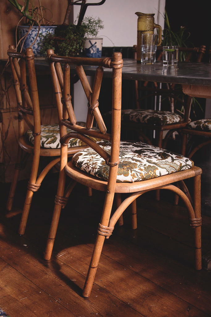 Lusty and Sons' faux bamboo early 20th century dining chairs. Dig Haushizzle Bristol