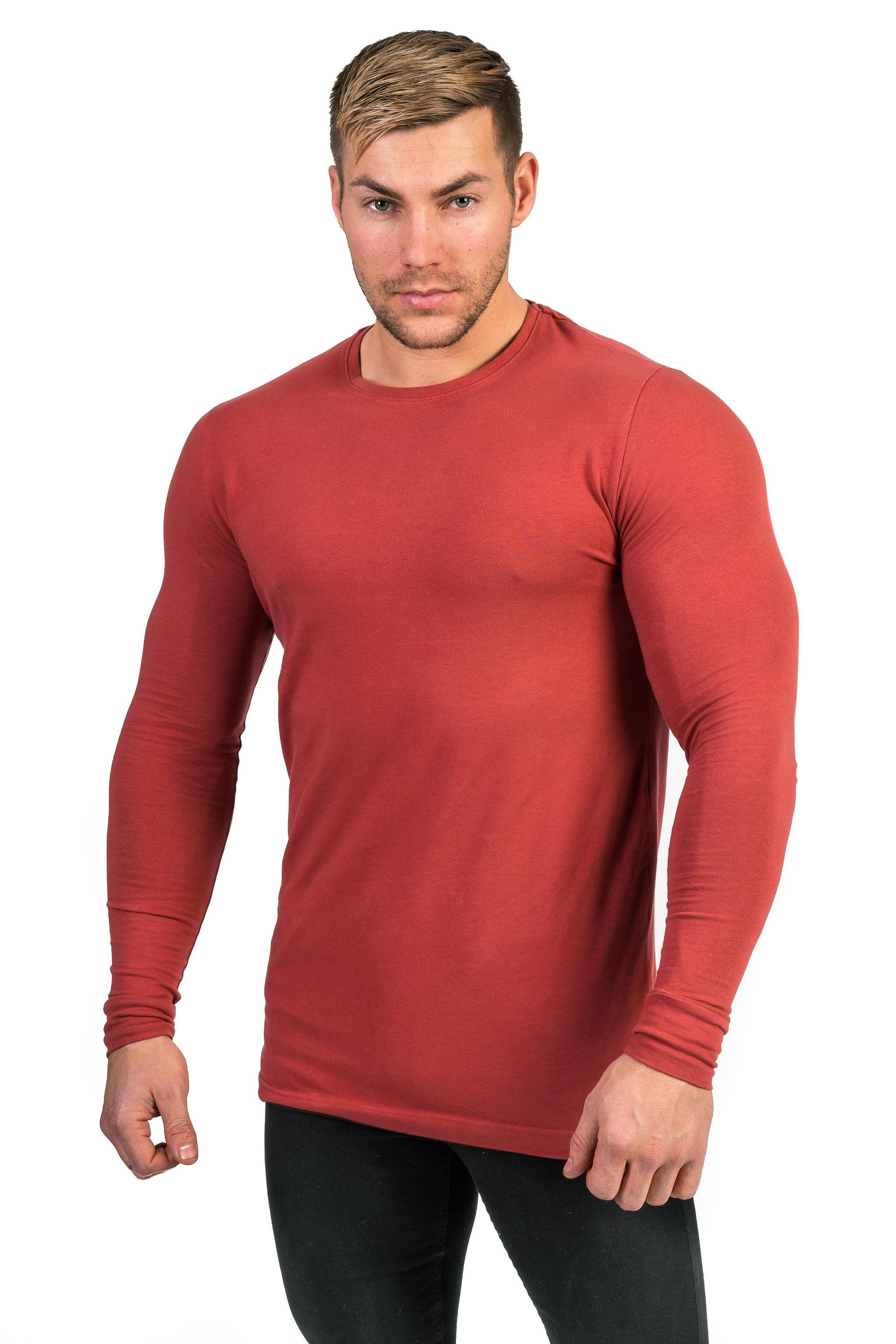 Mens Long Sleeve T Shirt - Pastel Port