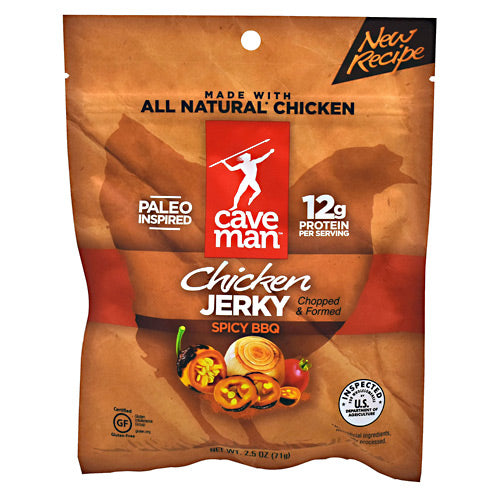 Caveman Foods Chicken Jerky - Spicy BBQ - 2.5 oz - 853385003995
