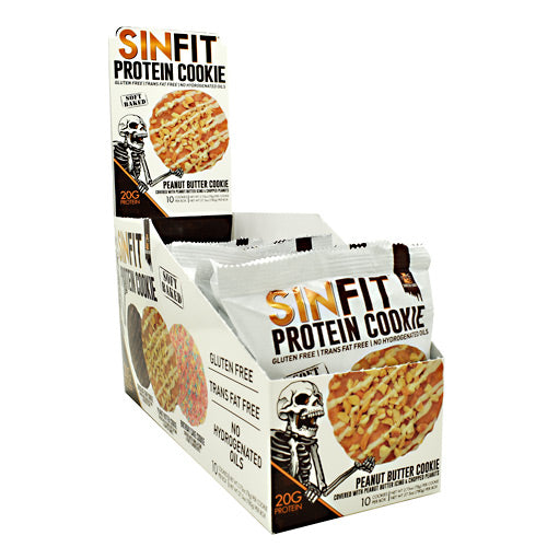 Sinister Labs Sinfit Cookie - Peanut Butter Cookie - 10 ea - 853698007383