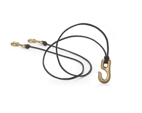 Cygnet Hook Necklace, Brass