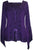 Renaissance Gypsy Bell Sleeve Blouse Top - Agan Traders, Purple