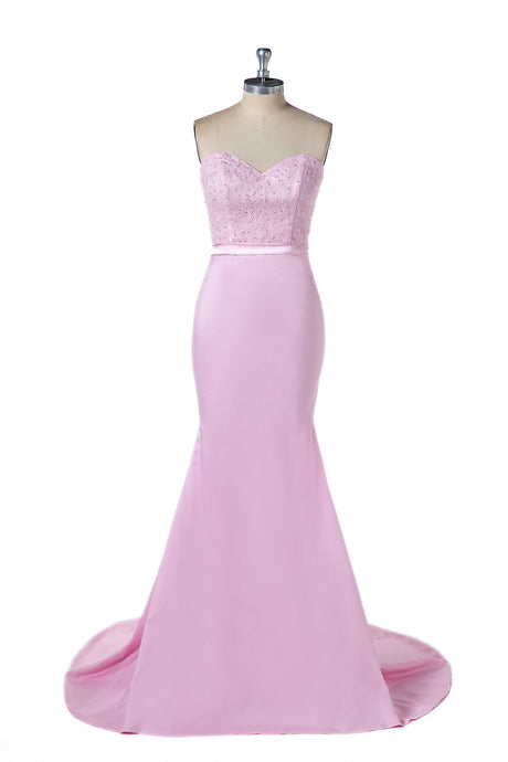 Mermaid Sweetheart Strapless Evening Dresses with Beads