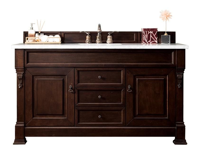 "60"" Brookfield Burnished Mahogany Single Bathroom Vanity, James Martin Vanities - vanitiesdepot.com"