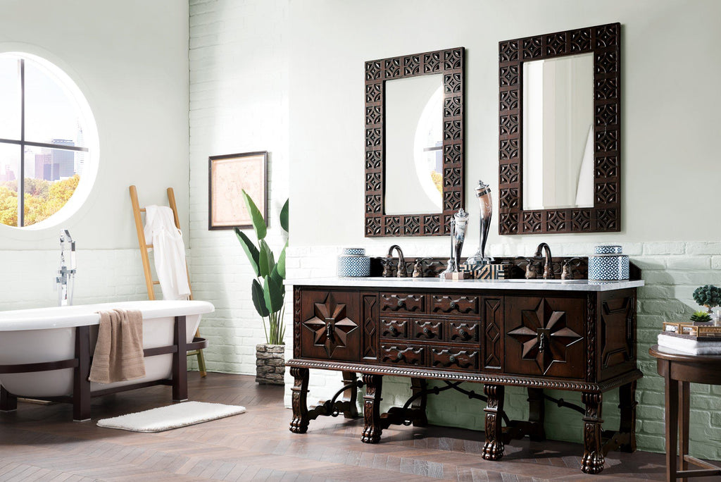 "72"" Balmoral Double Sink Bathroom Vanity, James Martin Vanities - vanitiesdepot.com"