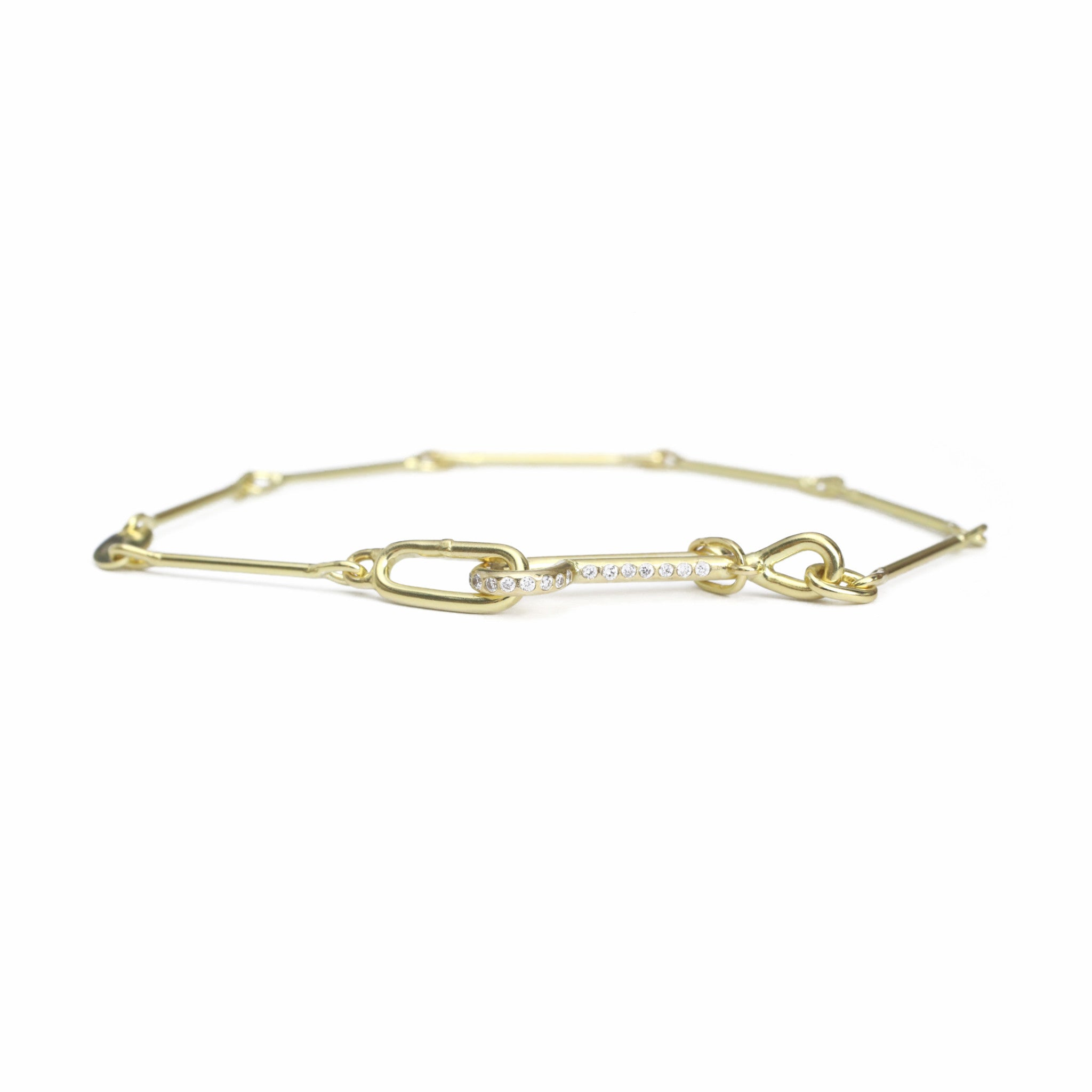 Needle Eye Chain Bracelet - Medium Weight