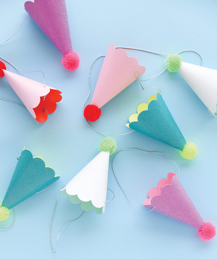 PARTY HATS WITH POM POMS (ONLY 2 LEFT IN STOCK)