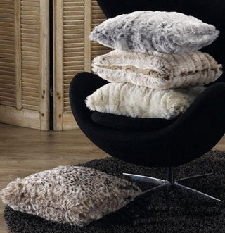 Lux Faux Fur Throw or Cushion Global Snow Collection