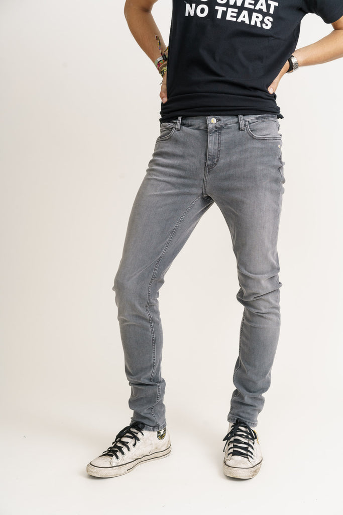 CLASSIC SKINNY // Organic Flex Classic Skinny Jeans in Light Grey Stream - Monkee Genes Organic Jeans Denim - Organic Flex Men's Jeans Monkee Genes Official  Monkee Genes Official