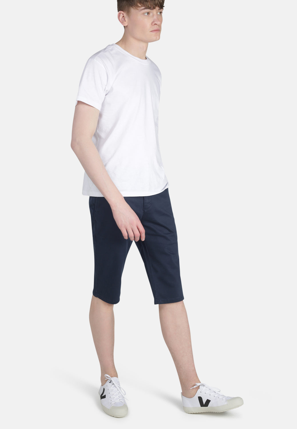 CHINO SHORTS // Organic Sateen Chino Short in Navy - Monkee Genes Organic Jeans Denim - Men's Shorts Monkee Genes Official  Monkee Genes Official