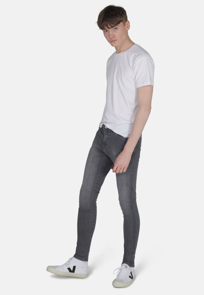 CODY // Organic Super Skinny Mid Rise Jeans in Light Grey Eco Wash - Monkee Genes Organic Jeans Denim - Men's Cody Monkee Genes Official  Monkee Genes Official
