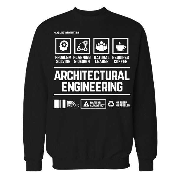 Architectural Engineering Handling Black Cotton Shirt
