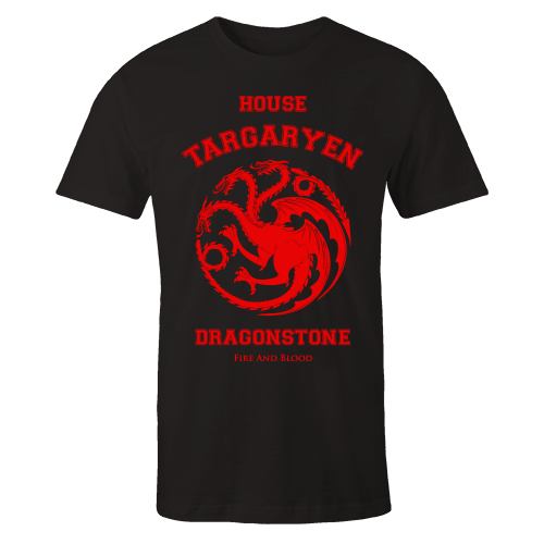 House Targaryen Black Cotton Shirt