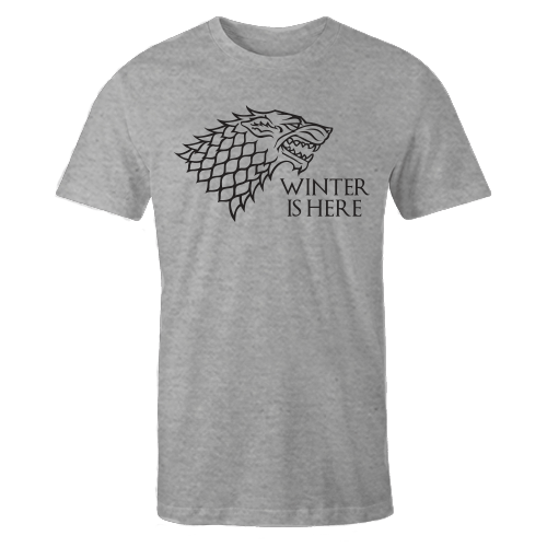 Winter Is Here Grey Cotton Shirt