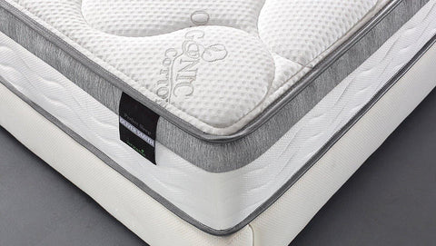 "Oliver Smith® Perfect Sleep Comfort Plush Euro-Pillow Top 10"" Organic Cotton Mattress"