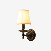 Mercy Wall Lamp Brass Finish Lights on