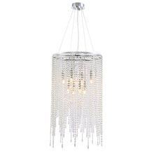 Luxury Linear Round Contemporary Island Crystal Chandelier With Warm Light