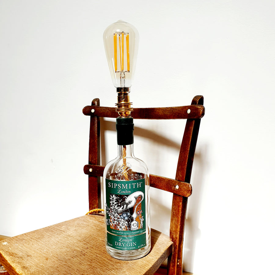 Sipsmith Gin Bottle Lamp - upcycled and cool! - Comme Glom